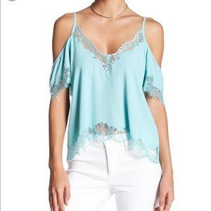 Nwot A S T R the label Tiffany blue cold shoulder